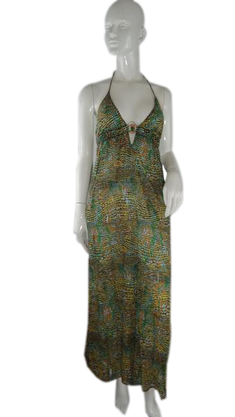 Trina Turk Halter Dress Multicolored Size XS SKU 000238-2