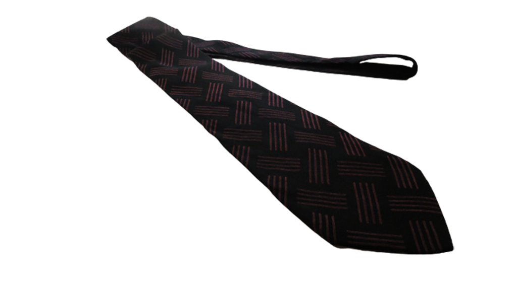 Men's Andrea Tezza Tie Black & Maroon SKU 000284-19 Bg2