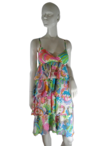 Trina Turk Dress Multicolored Print Size 8 SKU 000237-9