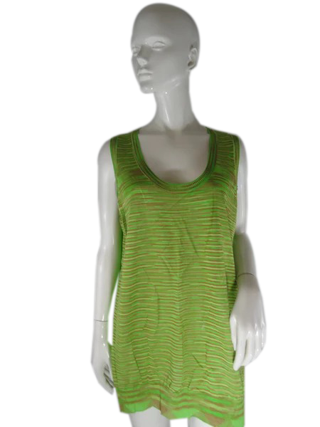 Missoni Top Lime Green Size 14 SKU 000237-13