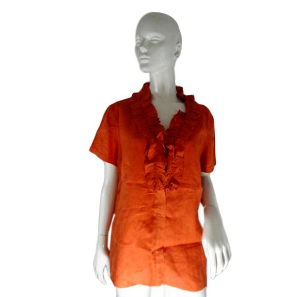 Lafayette 148 Blouse Orange Size 14 SKU 000241-6