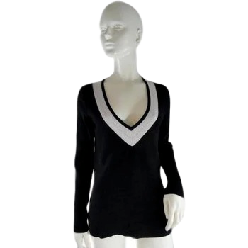 Talbots Sweater Black and White Size S SKU 000241-15