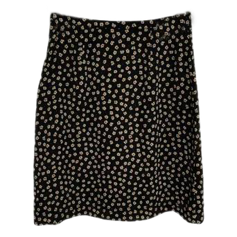 Banana Republic Skirt Navy Floral Print Size 6 (SKU 000243-16)