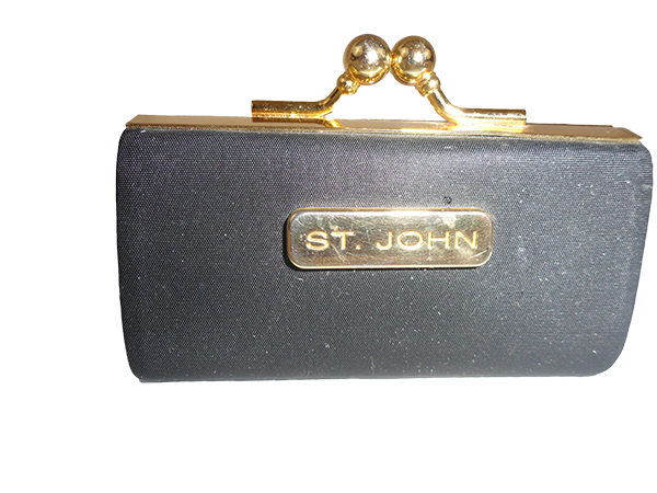 St. John Lipstick Case Black and Gold (SKU 000248-7)