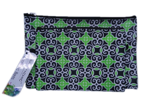 Cosmetic Bags Black & Green NWT (SKU 000216-22)