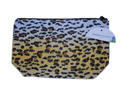 Cosmetic Bag Leopard Print NWT (SKU 000216-21)