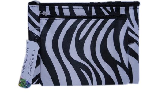 Cosmetic Bags Black and White NWT (SKU 000216-18)