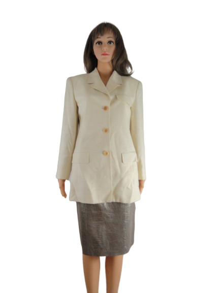 Ellen Tracy Blazer Cream Size 2 (SKU 000215-9)