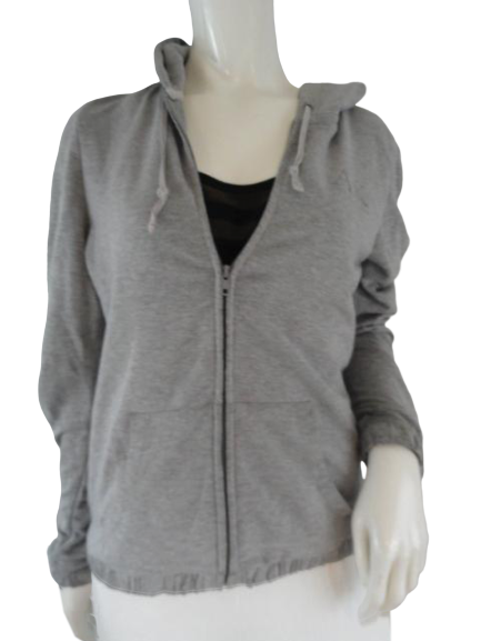 Anne Klein Jacket With Hood Gray Size M (SKU 000246-14)