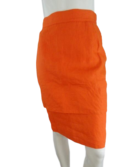 Gianni Versace Skirt Bright Orange Size 42 NWOT (SKU 000271-11)