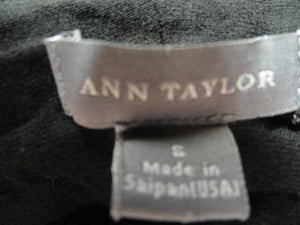 Ann Taylor Black Long Sleeve Top Size S SKU 000137