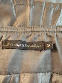 Hazel Skirt 50's Light Taupe Brown Pleated Silk Sz S SKU 000019