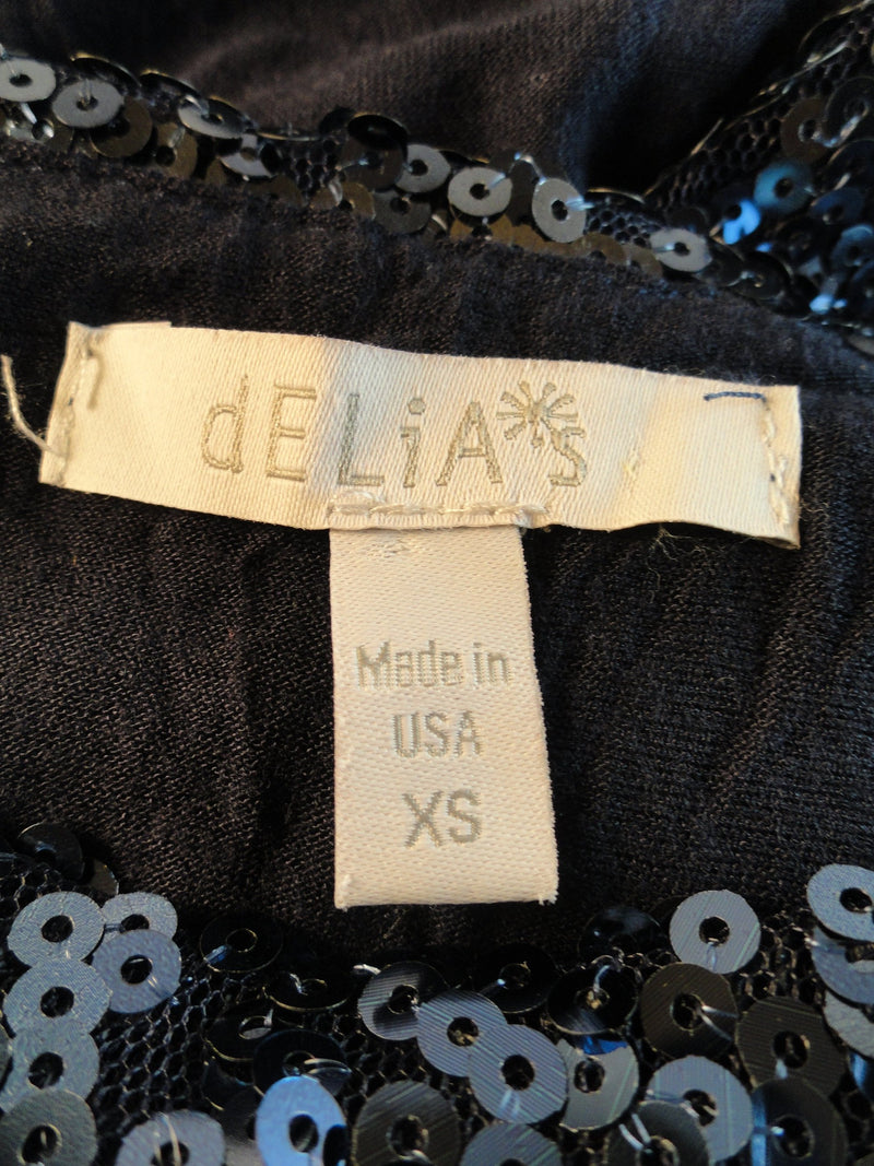 Delia's 90's Crop Top Blue Sequins Size XS SKU 000024