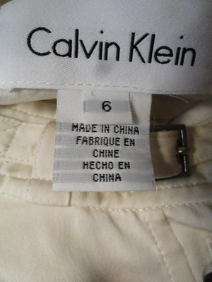 Calvin Klein 70's Blouse Off White Size 6 SKU 000041