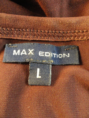 Max Edition 70's Top Brown Size Large SKU 000051