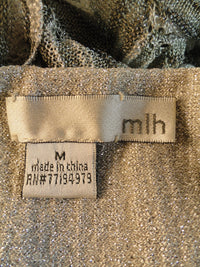MLH Light Up the Night Silver Party Strapless Dress Sz M SKU 000056
