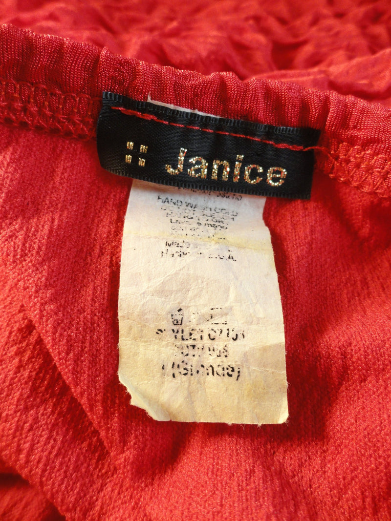 Janice Red Salsa Dress Size M/L SKU 000087