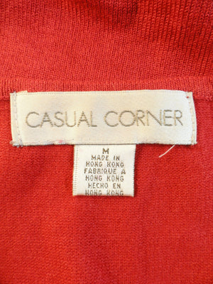 Casual Corner 80's Sequin Top Red Size M SKU 000087