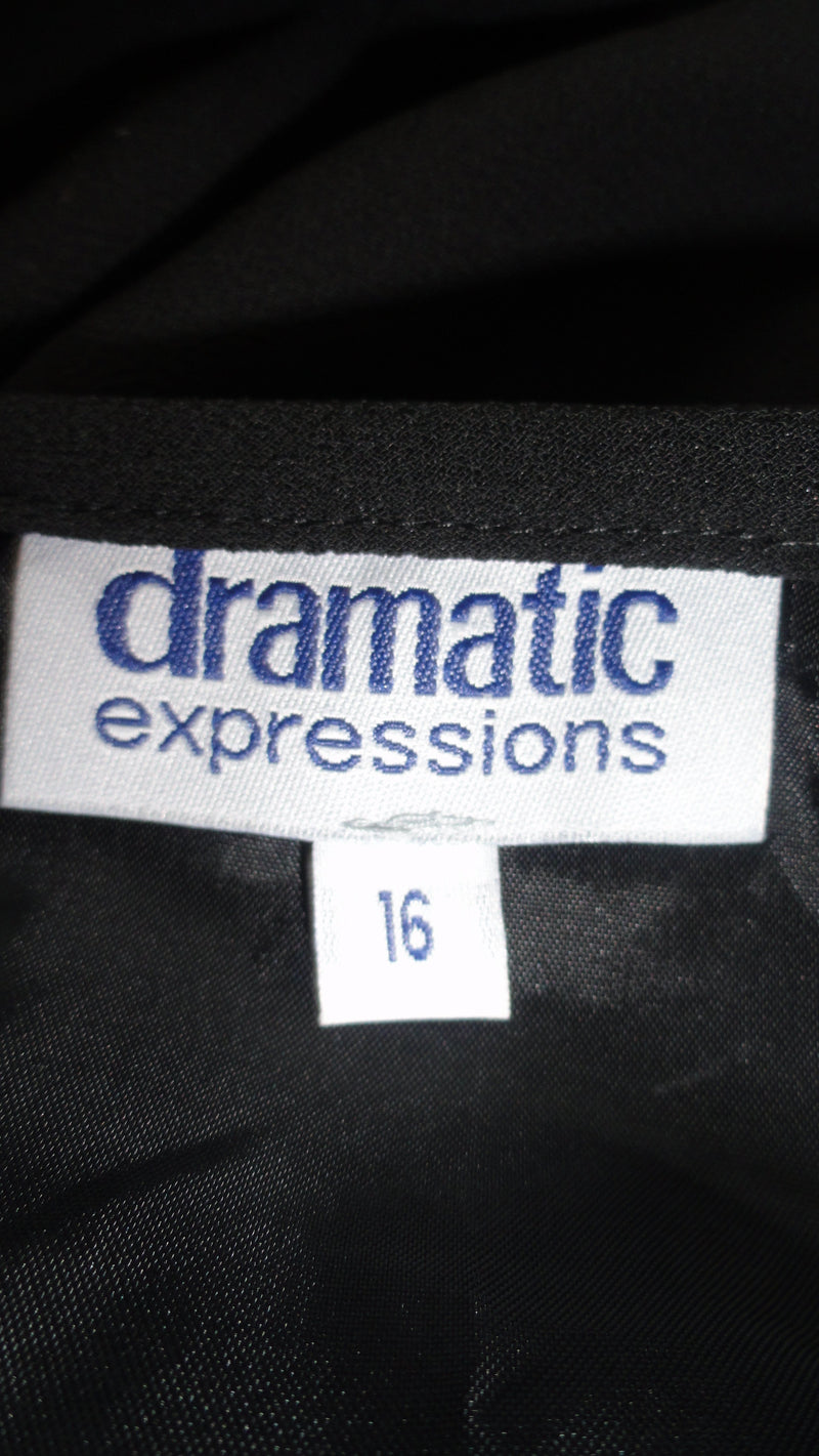 Dramatic Expressions 90's Black Skirt  Size 16 SKU 000094