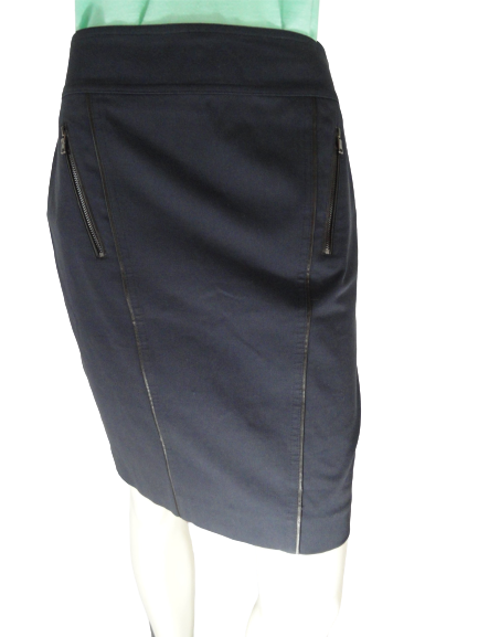 Ann Taylor 80's Above the Knee Skirt Navy Size 4 SKU 000154