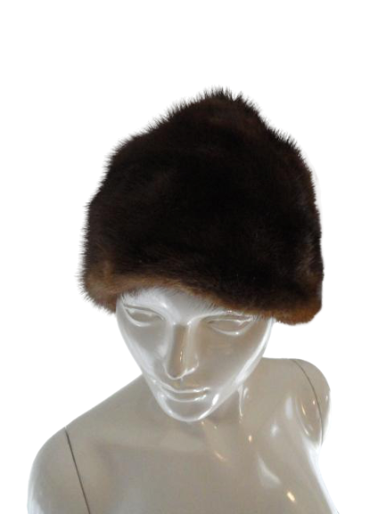Fur Authentic Ranch Mink Hat Brown SKU 000108