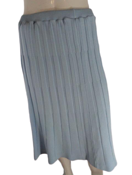 70's Givenchy Knit Maxi Skirt Size 6 Light Blue SKU 000276-2