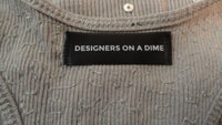 Designers on a Dime Grey Tank Top with Sequin Size Small  SKU 000170