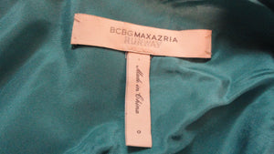 BCBG Maxazria Runway Teal  Above Knee Party Dress Size 0 SKU 000172