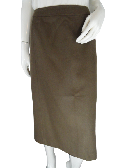 Givenchy 60's Maxi Skirt Light Brown Size 14 SKU 000282-2
