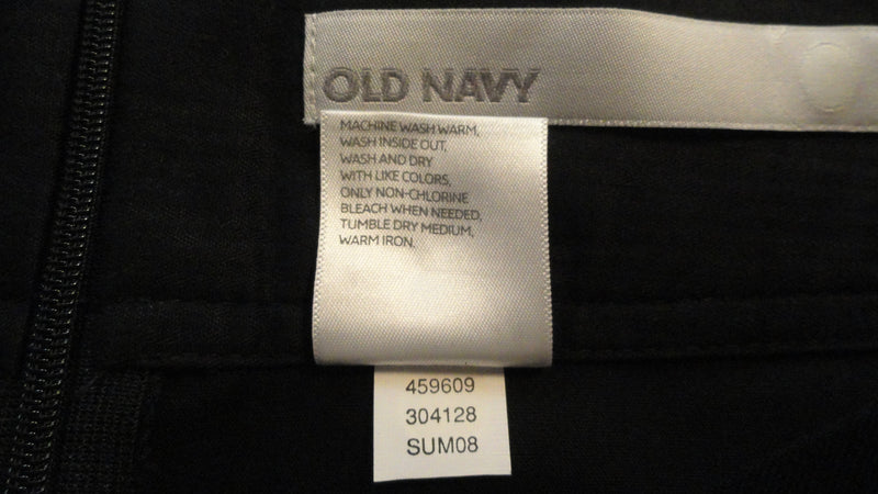 Old Navy Black Skirt with Back Slit Size 14 SKU 000174