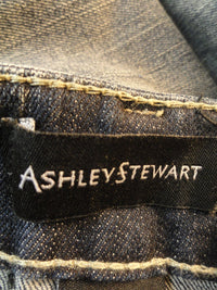 Ashley Stewart Skirt Faded Denim with Studs Size 22W SKU 000116