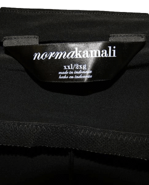 Norma Kamali 70's Strapless Black Dress Size XL & XXL SKU 000052