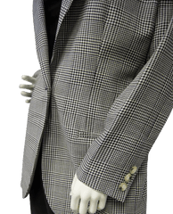 Anne Klein Black and White Plaid Blazer Sz 10 (SKU 000037)