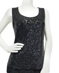 Shiny Shimmer Sequin Tank Top Size Small (SKU 000071)