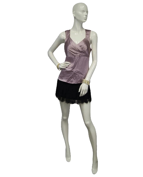 Renfrew Slip into Pink Silk Sleeveless Blouse Size Large