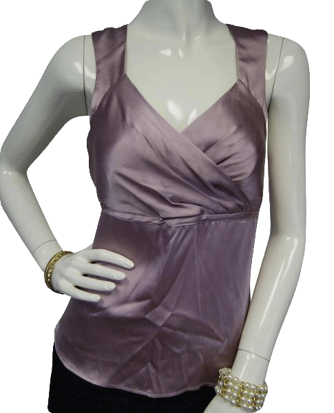 Renfrew 80's Silk Sleeveless Blouse Campagne Pink Sz L SKU 000071