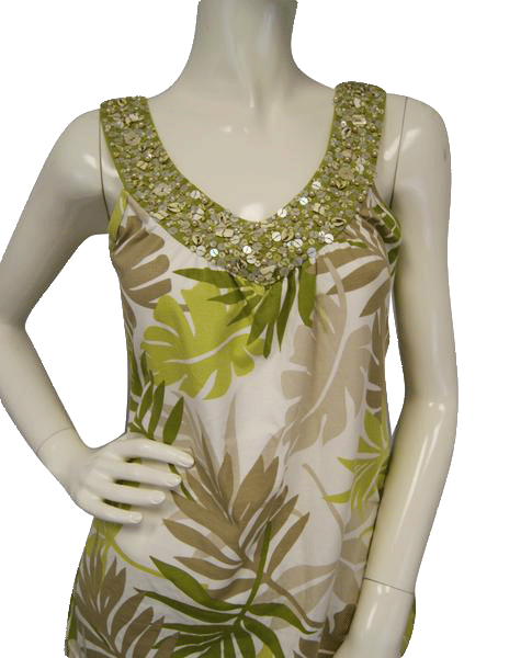 Harold's Top Green Embellished Small SKU 000025