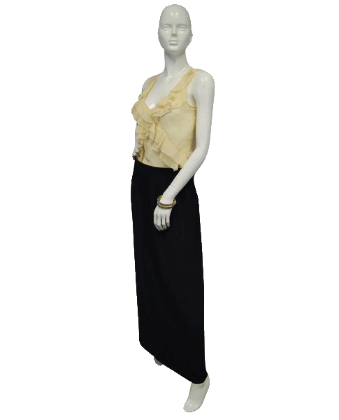 Maurice's Pale Yellow Sheer Sleeveless Blouse Size Small (SKU 000051)