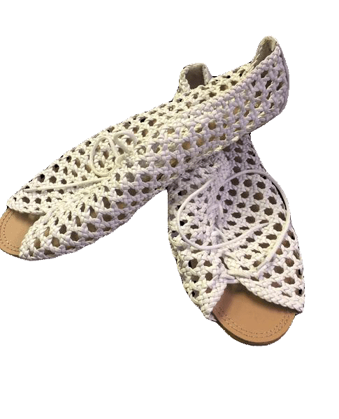 Top Shop White Net Sandals (SKU 000060)