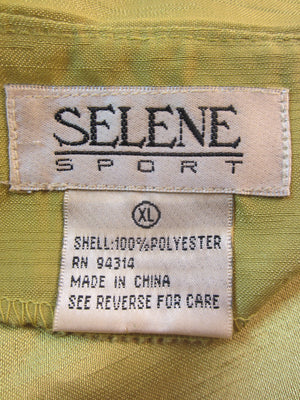 Selene Sport Top Lime Green Embroidered Size XL SKU 000101
