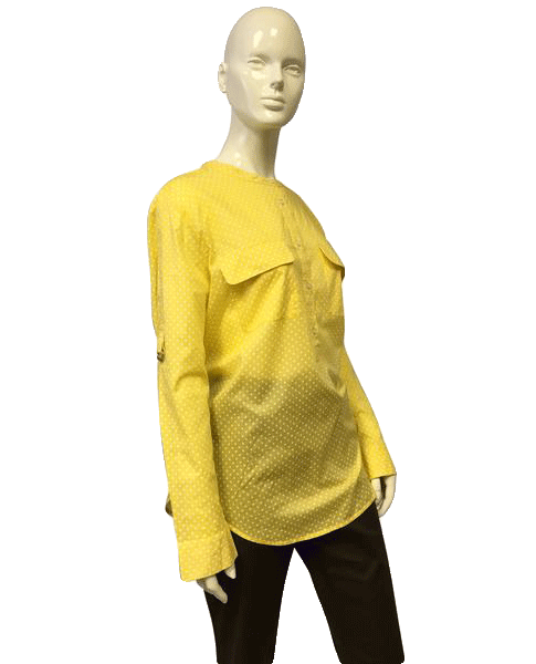 Ann Taylor Polka Dot Yellow Top Size XL (SKU 000051)