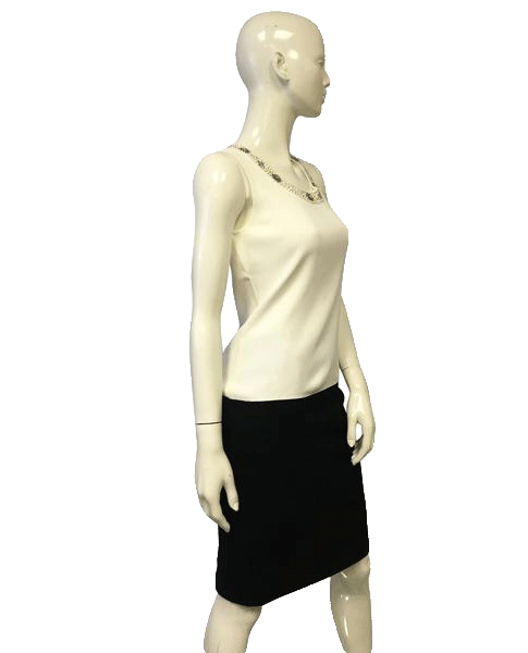 Cable and Gauge Sleeveless White Top Size Small (SKU 000051)