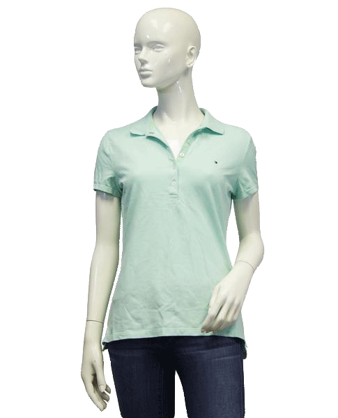 Tommy Hilfiger TOP Seafoam Polo Size Medium (SKU 000024)
