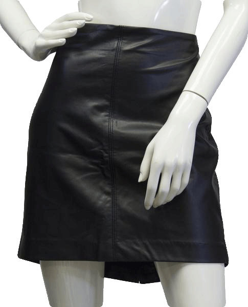 Old Navy 70's Black Vegan Leather Skirt Size 10NWT SKU 000039