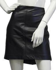 Love Me In Vegan Black Leather Skirt (SKU 000039)