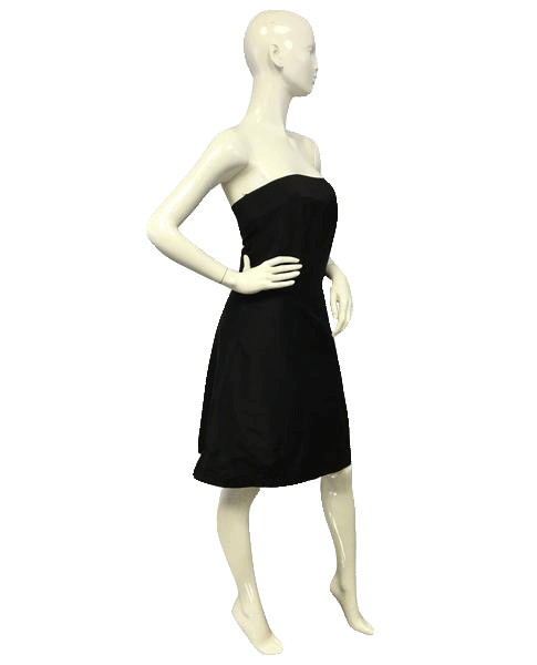 MISSING Little Black Strapless Dress Size Medium (SKU 000065)
