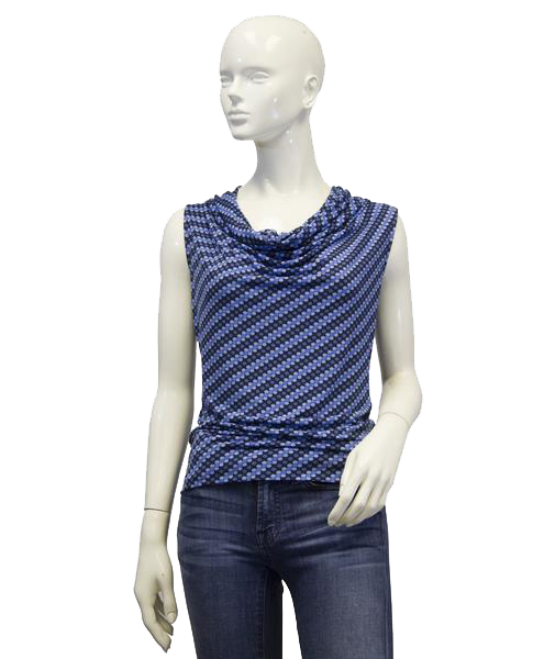 Michael Kors The Floaters Blue Top Sz S (SKU 000011)