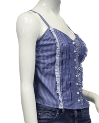 Picnic In The Park Blue Top Sz S (SKU 000011)
