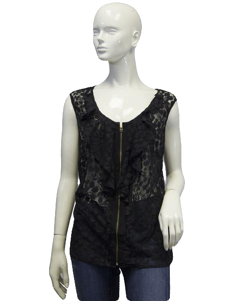 See Through Lace Black Top Sz 14/16 SKU 000096