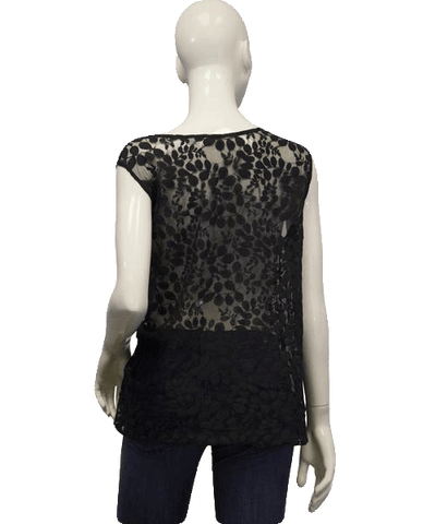 See Through Lace Black Top Sz 14/16 (SKU 000096)
